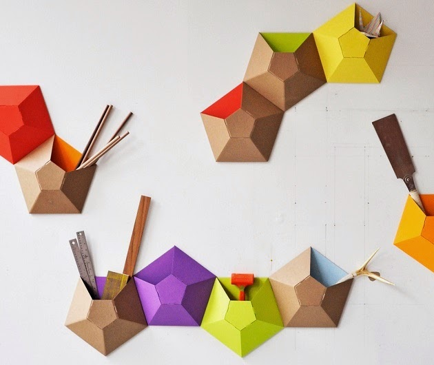 Ingenious Kaleidoscope Wall Pockets By Ampersand