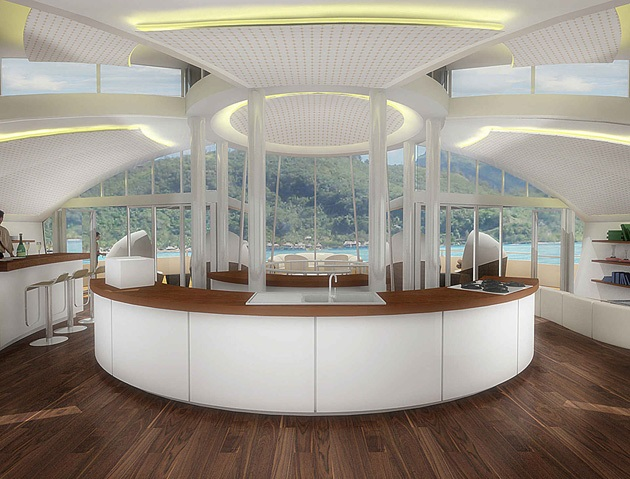 The Luxury Solar Floating Island Resort (2)