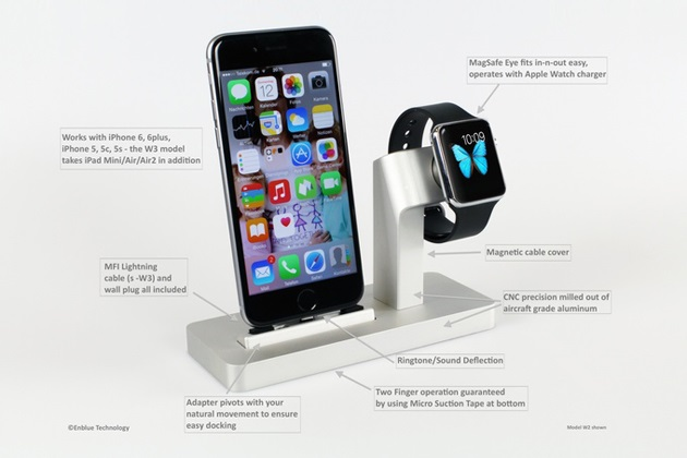 Premium One All in One Dock for Apple Watch & iPhone (1)