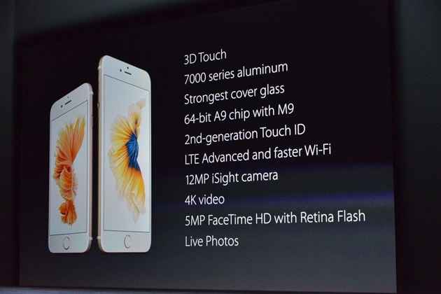 iPhone 6S and 6S Plus Announced with 3D Touch Live Photos 12 MP Camera 4k Video (1)