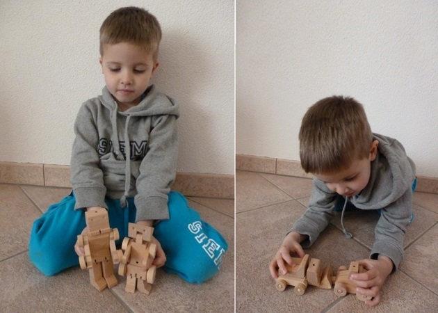 Meet WooBots Creative Wooden Robot Toy (8)