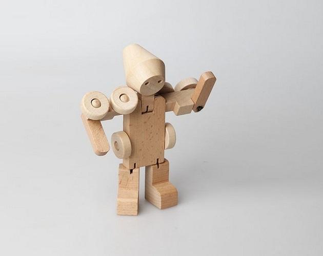 Meet WooBots Creative Wooden Robot Toy (4)