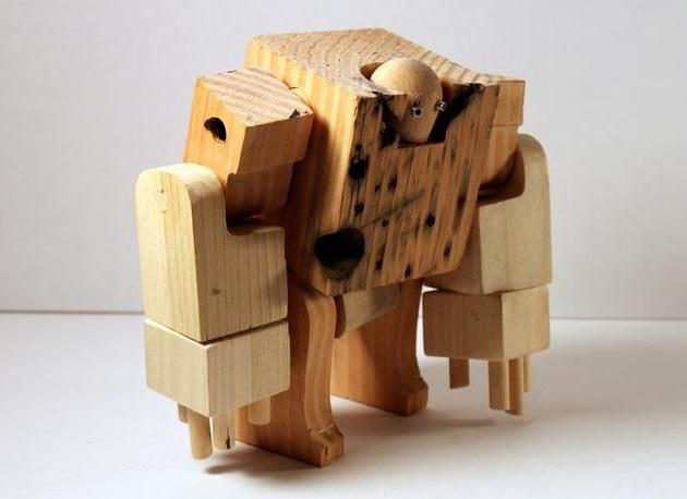 Meet WooBots Creative Wooden Robot Toy (3)