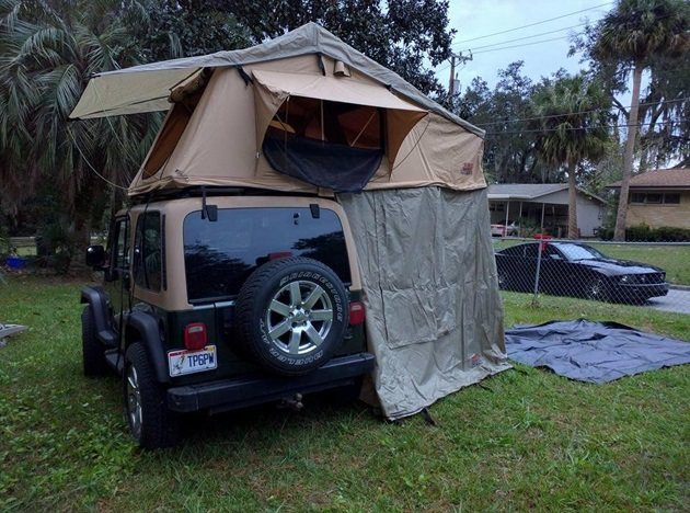 Overland Rooftop Camping Tent with Annex Room (7)