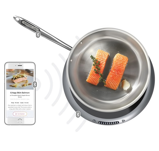 Hestan cue fish cooking fry pan