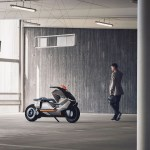 BMW unveils its futuristic concept of self-balancing electric two-wheeler