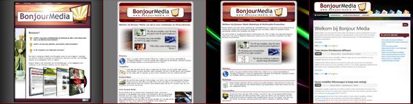 Bonjour Media Websites