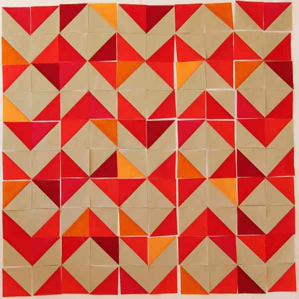 Half Square Triangle Table Runner - an easy modern quilt project.