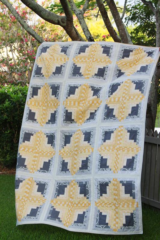 Bonjour Quilts: Rectangular Log Cabin Quilt Tutorial