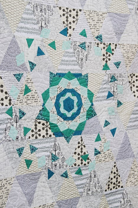 EPP Medallion quilt by Kirsty of Bonjour Quilts