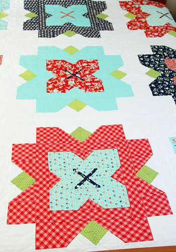 Fleur queen sized quilt PDF pattern - by Kirsty of Bonjour Quilts