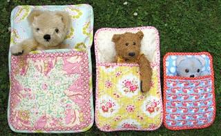 Flossie Teacakes sewing pattern - Three Bears Sleeping Bags