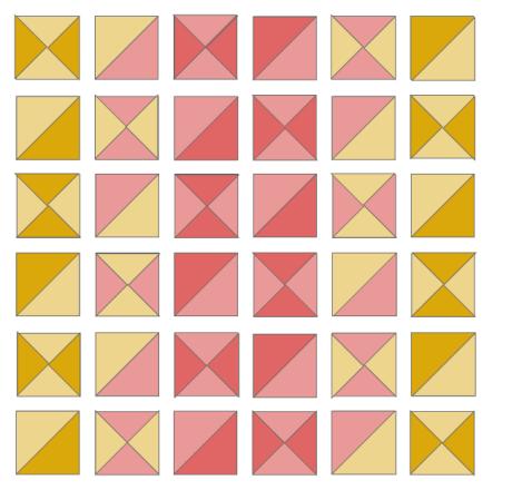 Mini quilt layout
