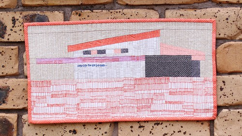 Austin House by Carolyn Friedlander as a mini quilt