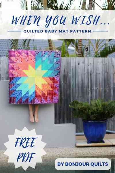 Free baby quilt pattern by Kirsty at Bonjour Quilts; made with Karen Lewis' Blueberry Park