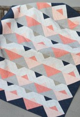 Triangle Twist quilt pattern by Kirsty at Bonjour Quilts
