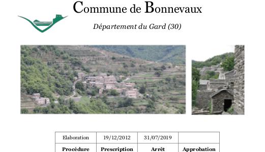 PLU de la commune de Bonnevaux arrêté le 31 juillet 2019