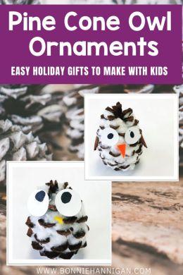 Pine Cone Owl Ornaments (1)