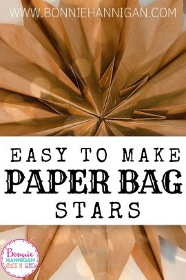 Easy to Make Paper Bag Stars