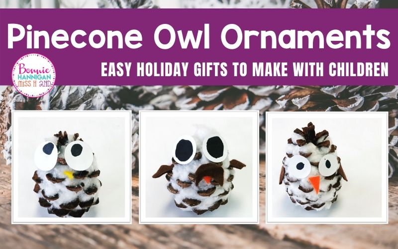 Pinecone Owl Ornaments