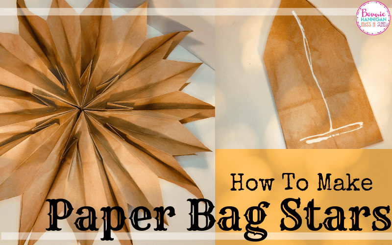 How To Make Paper Bag Stars Step by Step