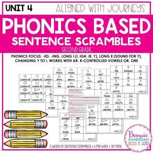 Grade 2 Unit 4 Phonics Based Sentence Scrambles