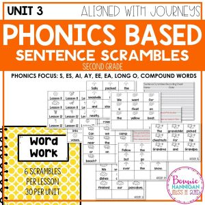 Grade 2 Unit 3 Sentence Scrambles