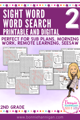 Word Search Puzzles 2nd Grade