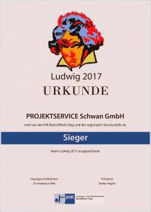 Die Siegerurkunde der Hofgartenmanufaktur für den Ludwig 2017