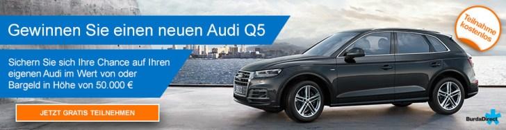 Jetzt kostenlos teilnehmen und mit etwas Glück einen Audi Q5 gewinnen!