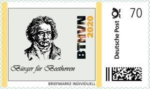 Neue Beethoven-Briefmarke wirbt für 2020