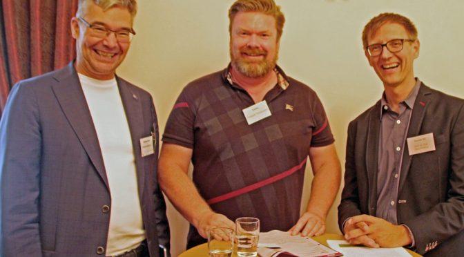 Michael Pieck, Organisator Marktplatz der Guten Geschäfte, Christoph Timmerarens und Dirk Mazurkiewicz