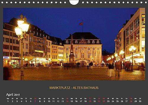 BONNER NACHTFARBEN (Wandkalender 2019 DIN A4 quer): Nachtaufnahmen der schönen Stadt Bonn (Monatskalender, 14 Seiten)