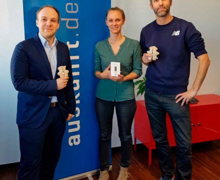Fabian Brüssel mit Cornelia Schimmel und Jens Hirschfeld