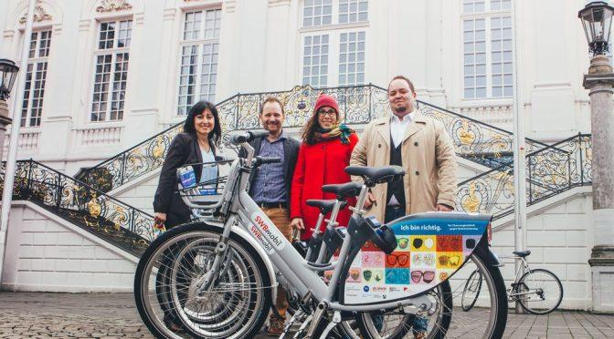 Nextbike-Räder werben für Chancengleichheit