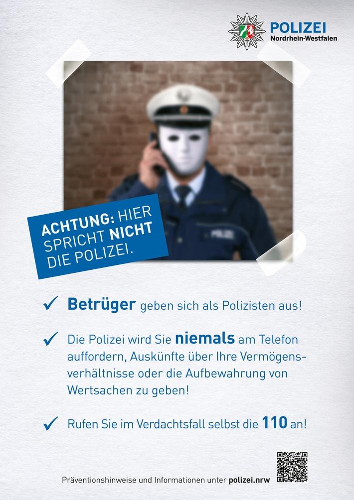 Vorsicht! Falsche Polizeibeamte am Telefon - Polizei berät und informiert vor Ort.