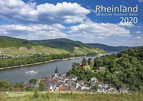 Rheinland 2020 Wandkalender A4 quer Spiralbindung 28 Blatt mit 56 Seiten