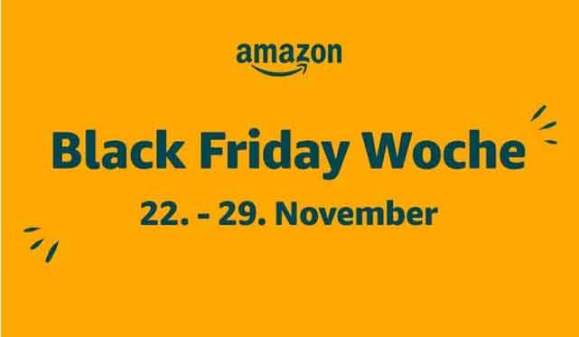 Amazon startet erstmals die Black Friday Woche – ab dem 22. November mit tausenden Angeboten und bis zu 50 Prozent Rabatt