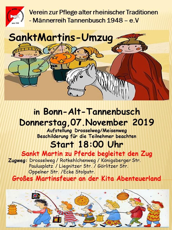 Sankt Martinszug in Alt-Tannenbusch
