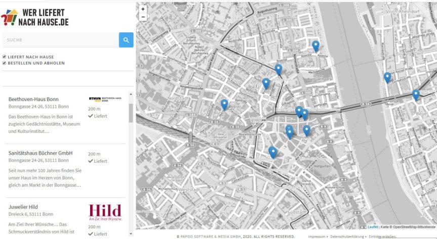 Bonner Internetagentur entwickelt kostenloses Portal werliefertnachhause.de