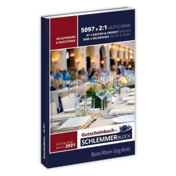 Gutscheinbuch Schlemmerblock Bonn/Rhein-Sieg-Kreis 2021