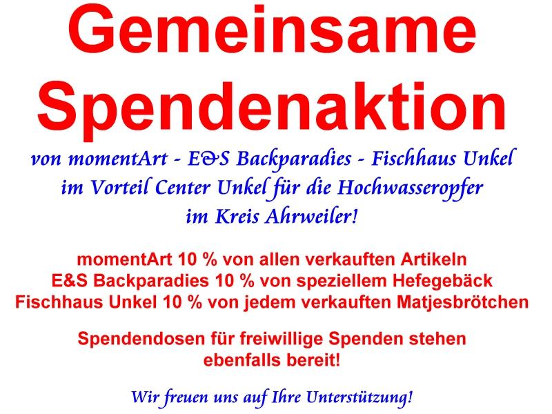 Gemeinsame Spendenaktion für den Kreis Ahrweiler