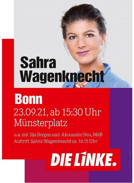 DIE LINKE Spitzenkandidatin Sahra Wagenknecht in Bonn