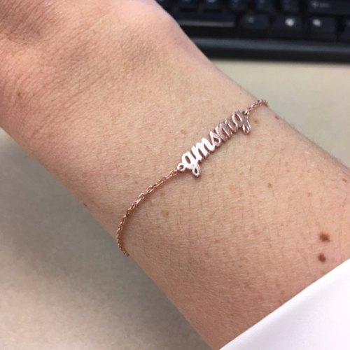 Bold Name Bracelet photo review