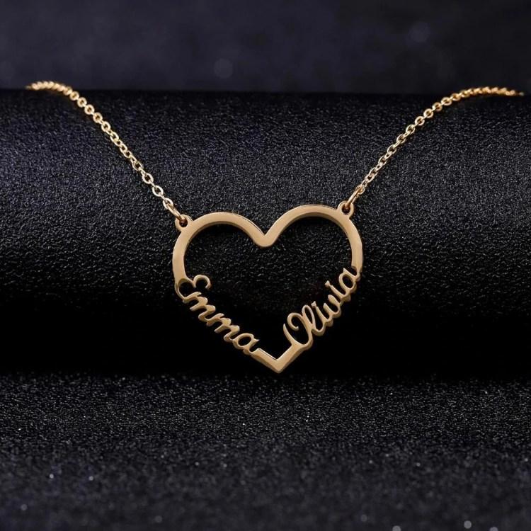 Couple Heart Necklace