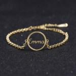 Round Nameplate Bracelet