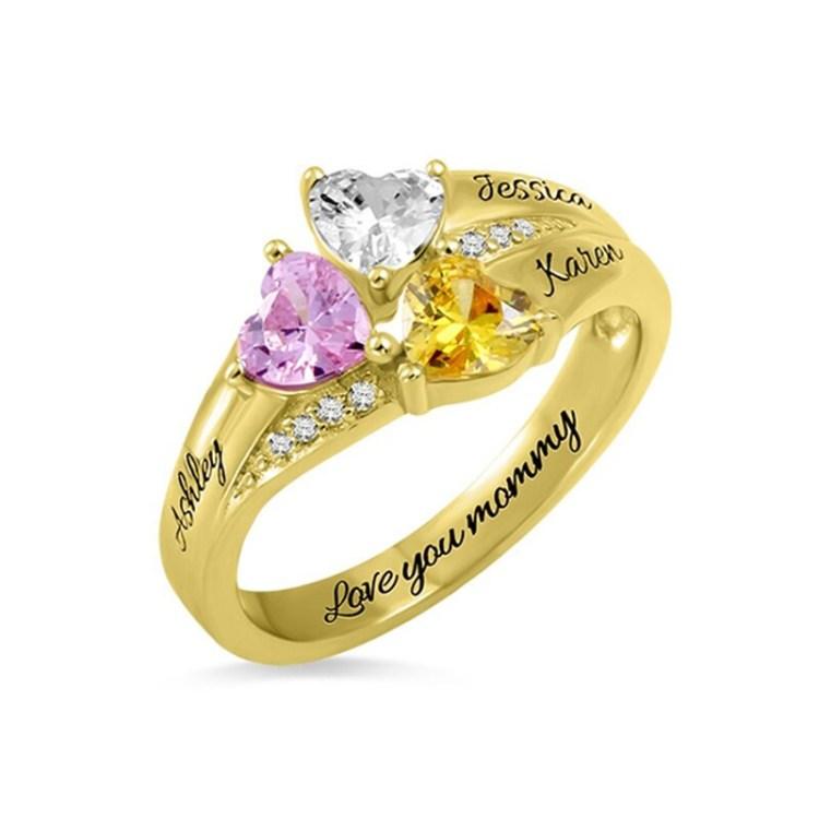 Birthstone Heart Ring