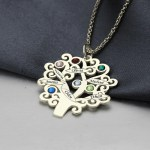 sterling silver family tree