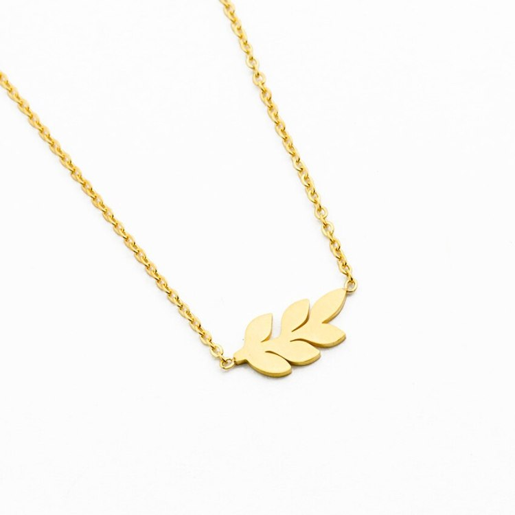 leaf necklace for women with minimalist simple birthday gift