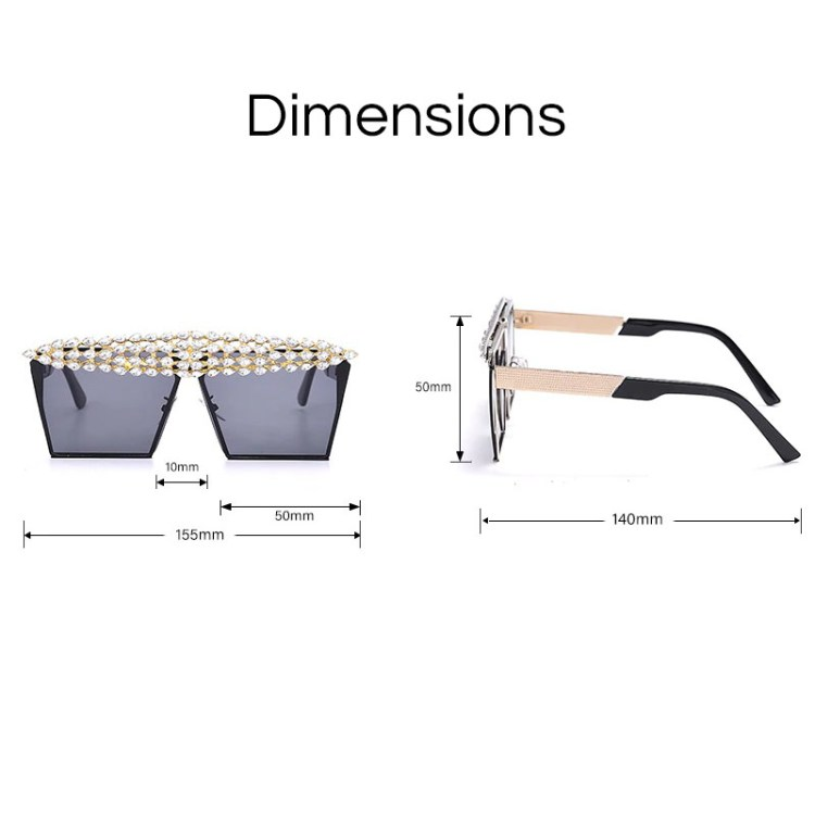 sunglasses dimensions